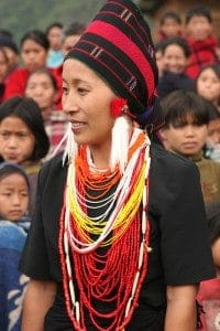 A Naga woman in Chingmei village in India