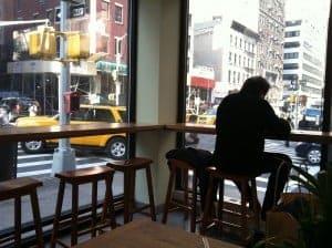 Desi Shack windows look out on Lexington Avenue