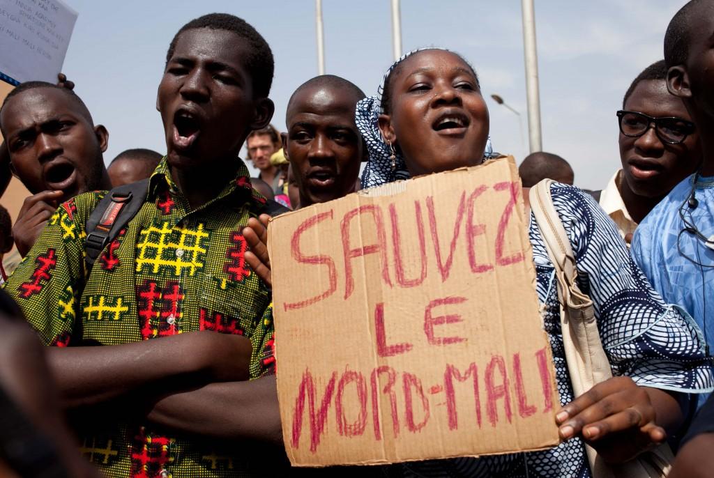 Protesters in Bamako, Mali