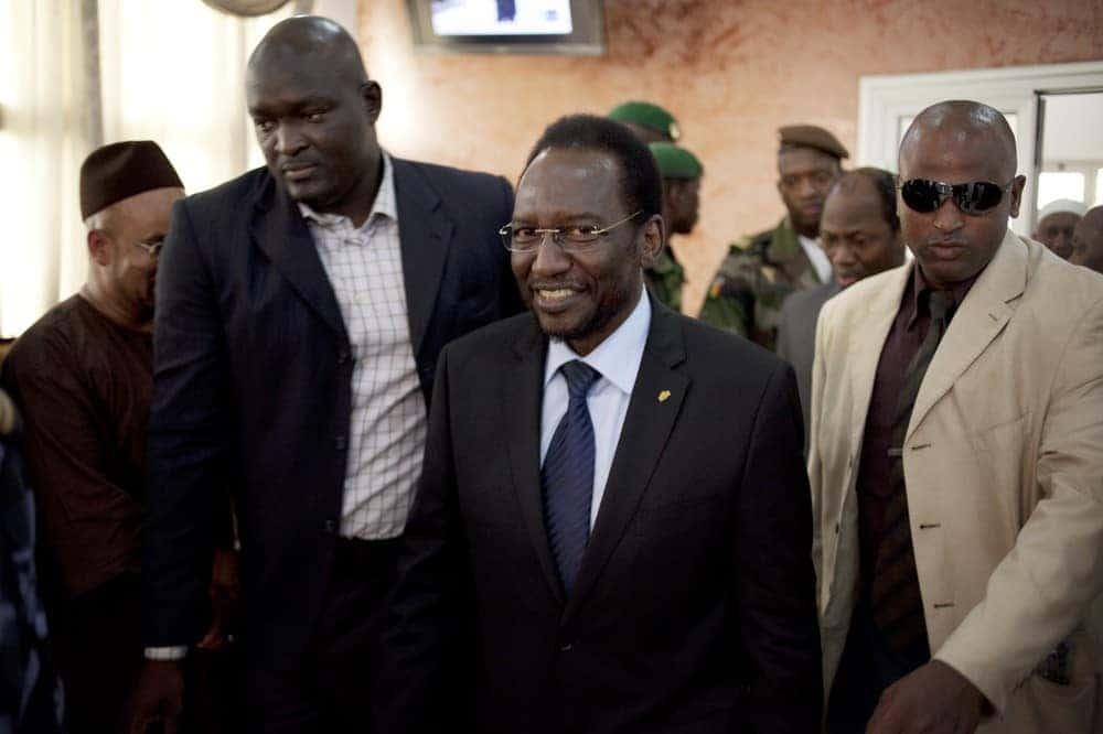 Interim president Dioncounda Traore of Mali