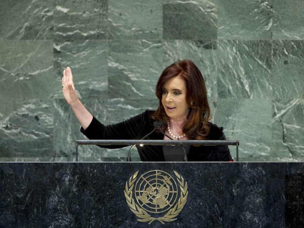 Cristina Fernandez, president of Argentina