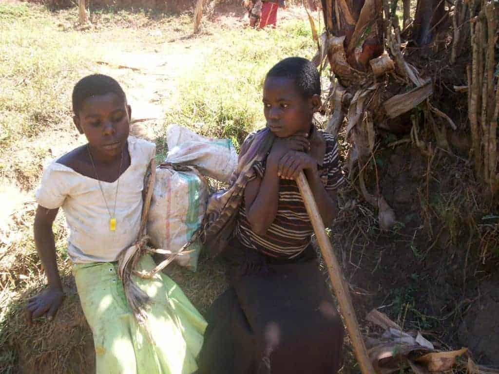 Fatherless children in eastern Congo