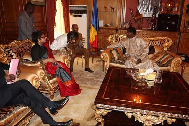 Special Representative Rhadika Coomaraswamy meeting with Chadian President Idriss Déby