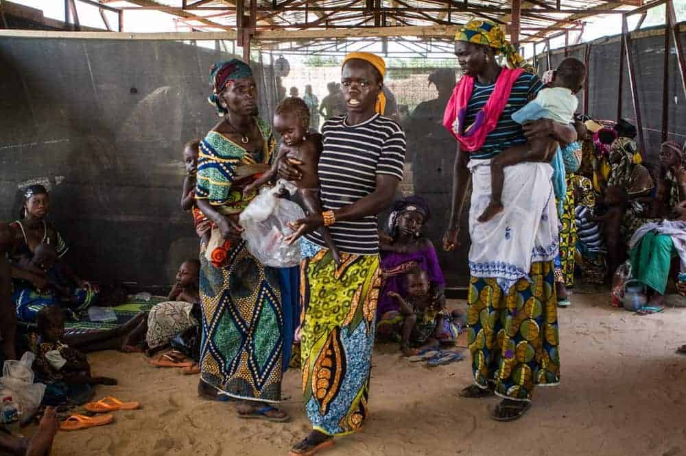 Niger women at Doctors Without Borders relief camp in Niger.