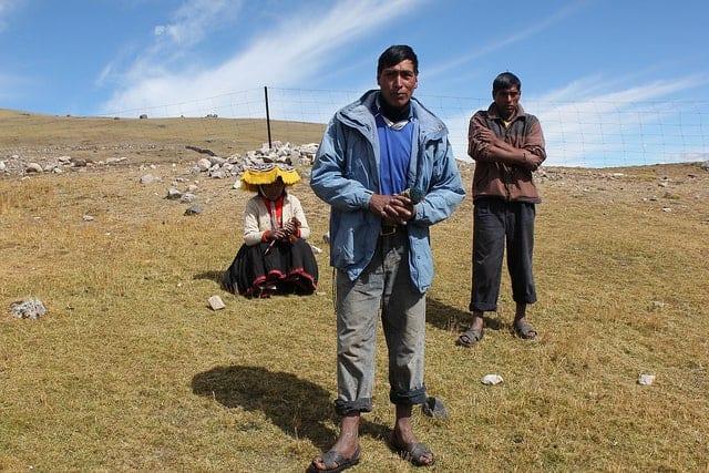 Indigenous Pacchanta in southeast Peru.