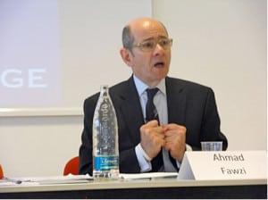 Ahmad Fawzi, lecturing in Turin in February 2012.