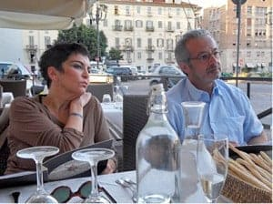 Jafar Javan and Afsane Bassir Pour in Turin, Italy