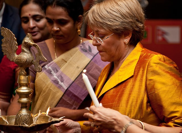 Michelle Bachelet of UN Women in India