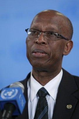 Joseph Mutaboba, former UN peace-building chief in Guinea-Bissau