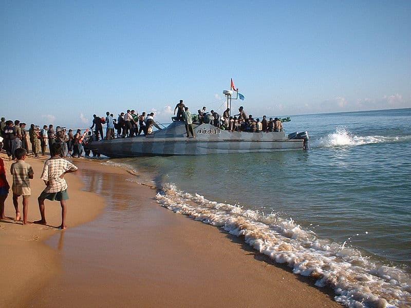 Tamil Tiger cadres loading up in Sri Lanka