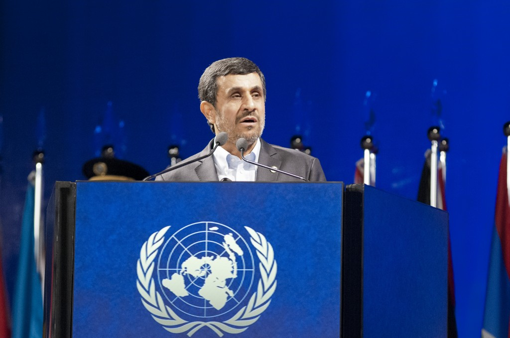 Mahmoud Ahmadinejad, Iran's president, addressing the UN conference on sustainable development, June 20, 2012.