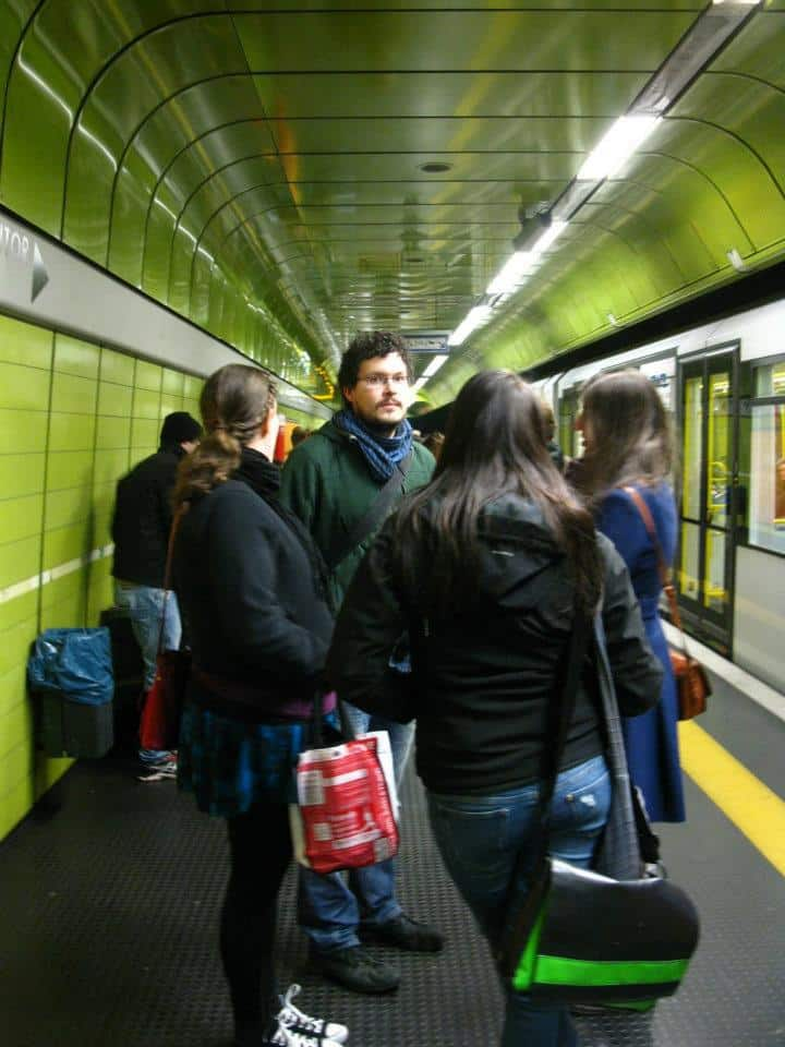 The metro in Cologne, Germany