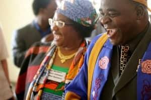 Joyce Banda, president of Malawi, and Chief Kwataine