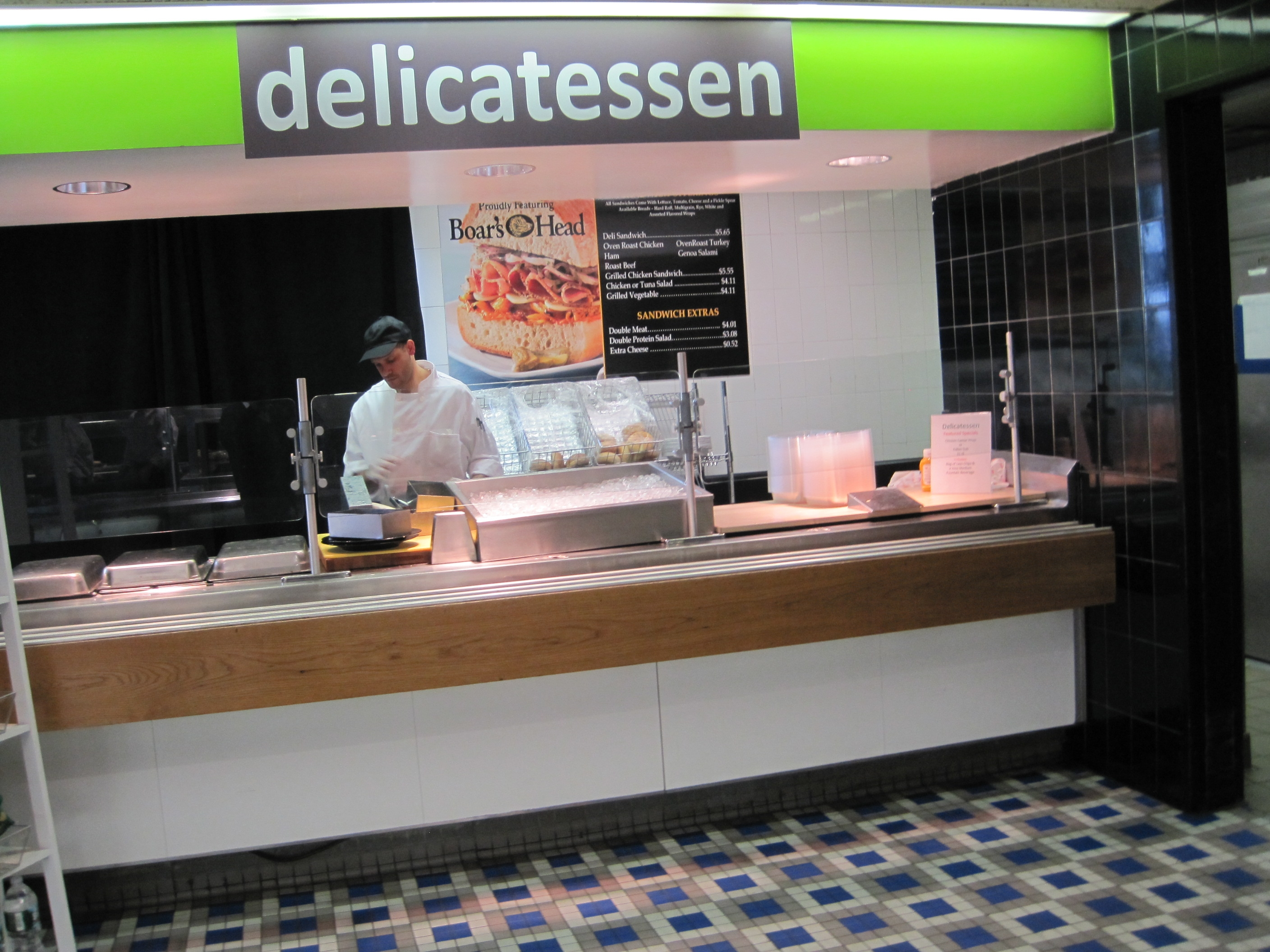 UN cafeteria delicatessen station