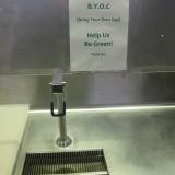 UN cafeteria sign