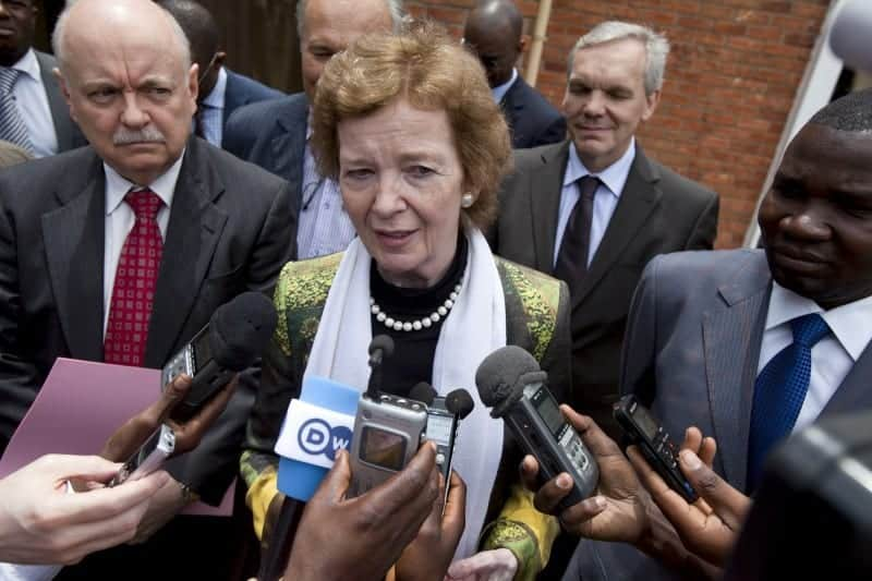 Mary Robinson, UN Special Envoy for the Great Lakes Region visit in Goma