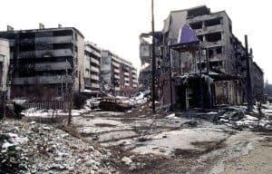 Sarajevo war damage