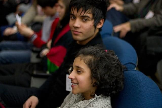 Afghan children visiting the US