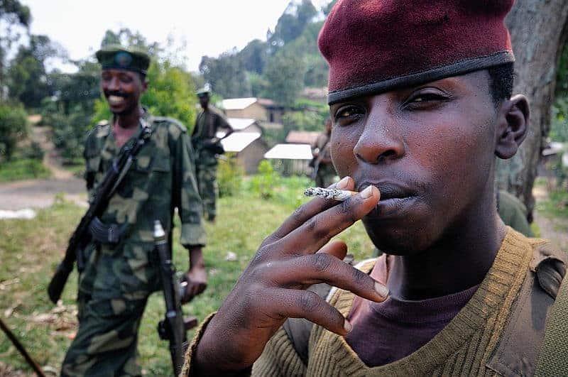 M23 troops in Bunagana, Congo