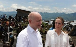 William Hague and Angelina Jolie in Congo