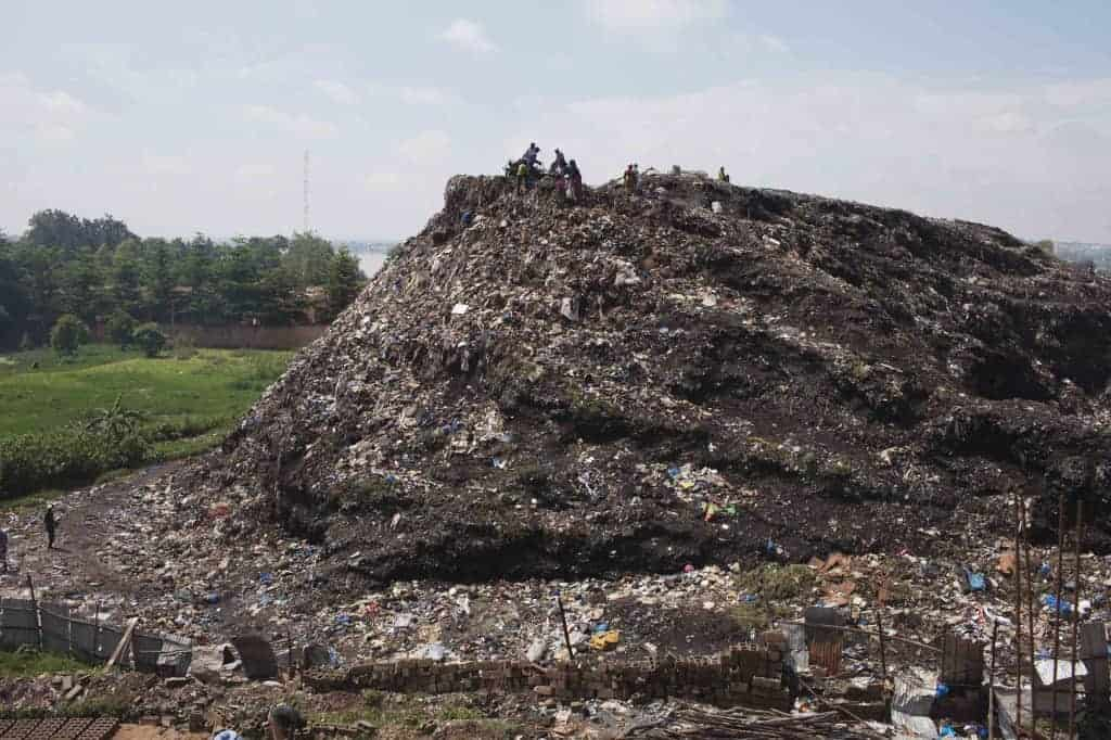 Garbage dump in Bamako