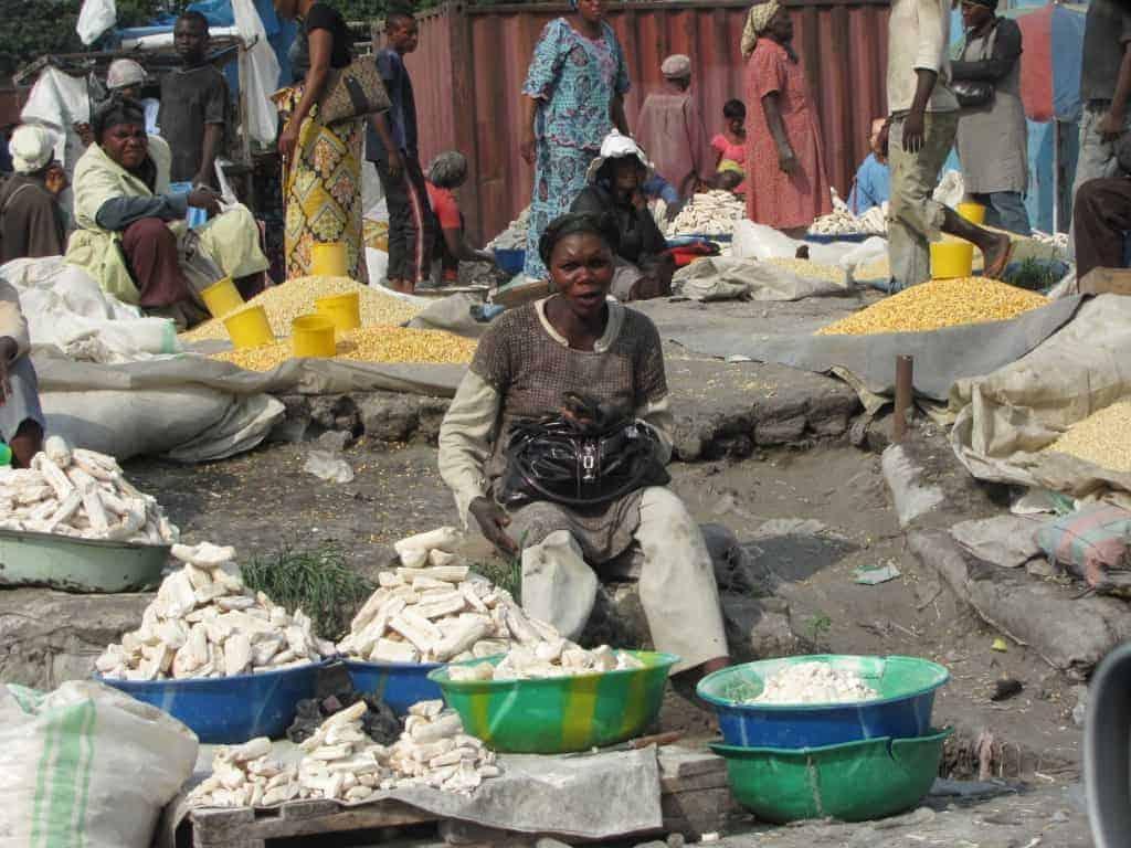 Marketplace in Kinshasa