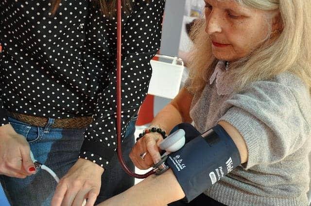 Blood pressure taken in Buenos Aires