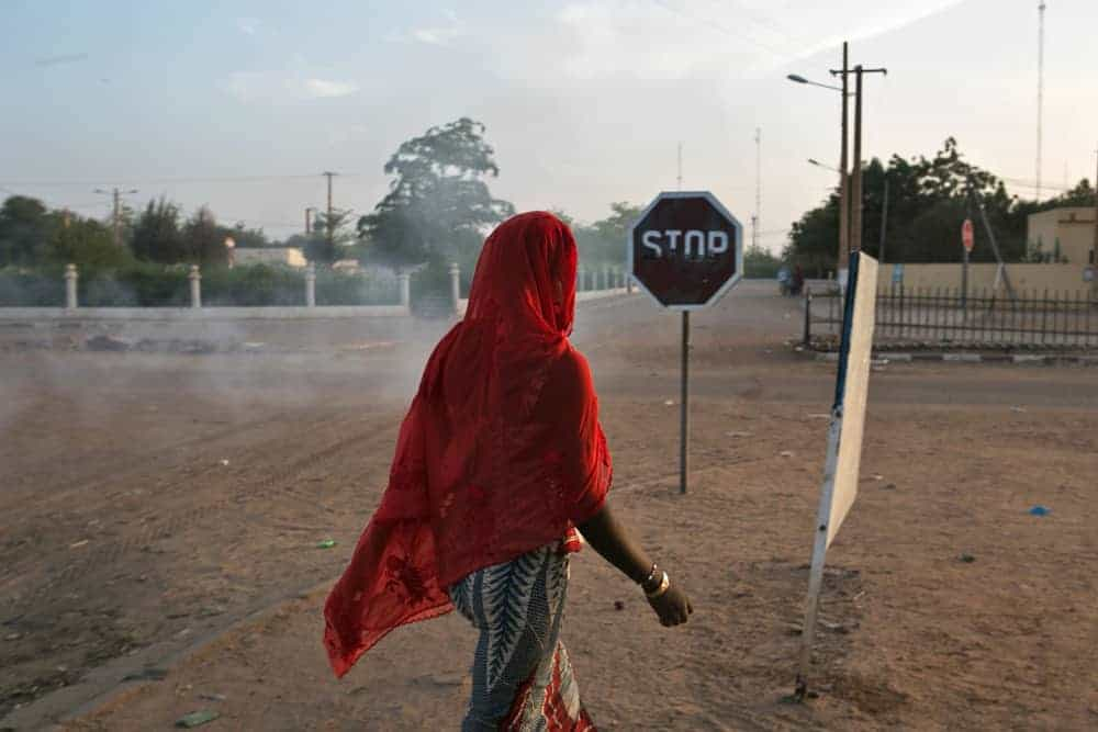 A woman in Gao after the French attack in January 2013.