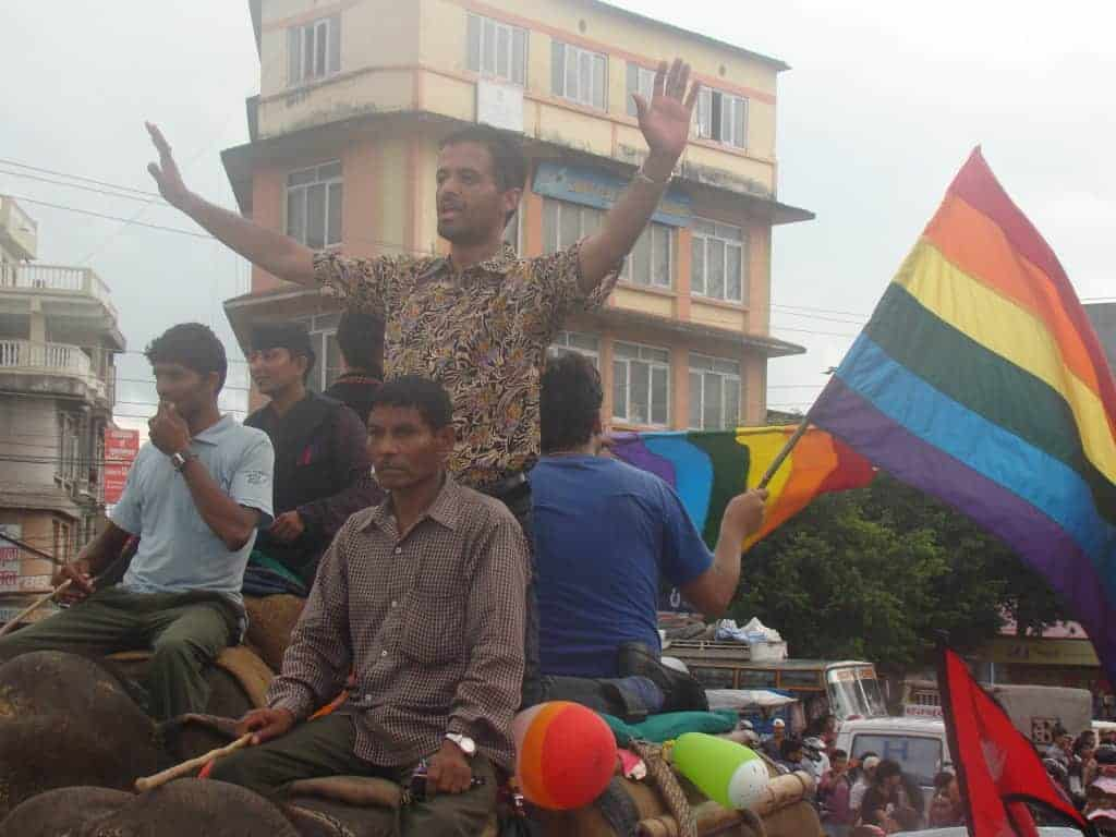 Sunil Pant in the Gai Jatra Festival in 2011 (In Chitwan, Nepal)