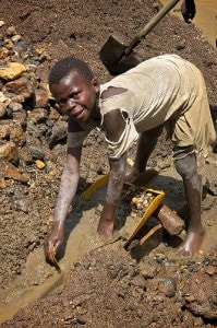 Congo child gold miner