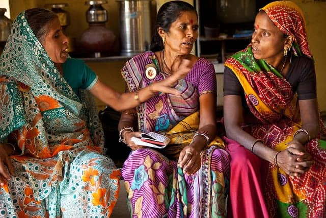 Members of the Ekal Nari Shakti Sangathan, a network that promotes the rights of widows. GAGANJIT SINGH/UN WOMEN