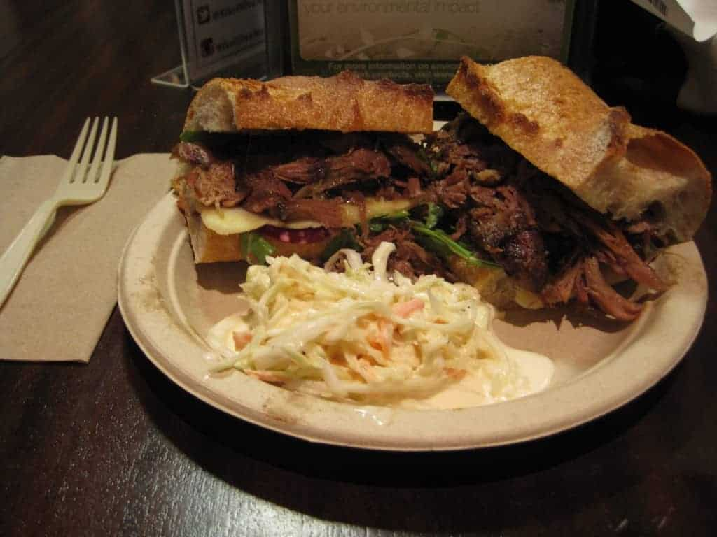 braised lamb sandwich