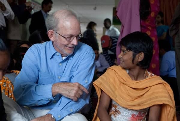 Anthony Lake, executive director of Unicef, during a visit to Bangladesh in 2012.