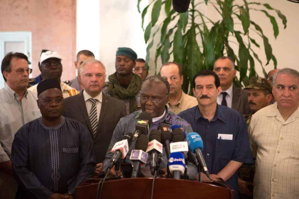 Mamadou Koumare, Mali's transportation minister, speaking at the Bamako airport on July 27 regarding the Air Algerie crash.