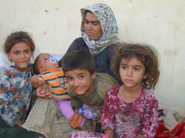A Yazidi refugee family in the semiautonomous region of Kurdistan, Iraq.