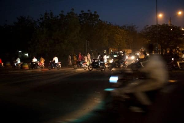 Motor scooters in Bamako