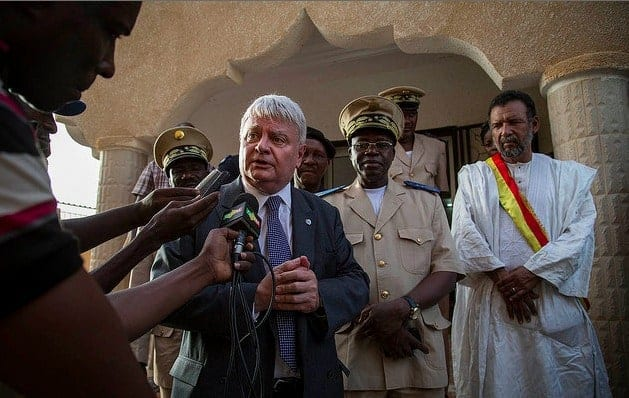 Ladsous in Gao, a remote city in northern Mali. MARCO DORMINI/UN PHOTO