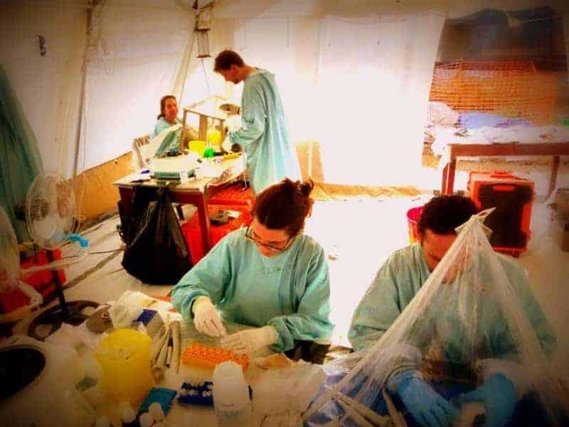 Ebola testing lab