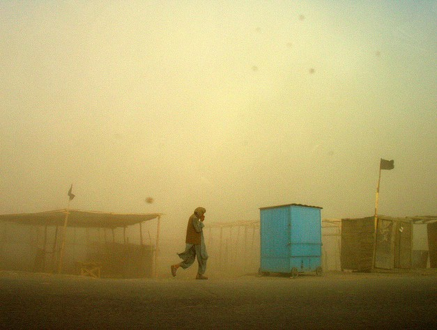 A sandstorm in Kabul.