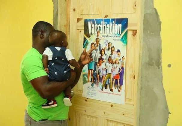 A vaccine campaign in Barbados, led by Pan American Health Organization.
