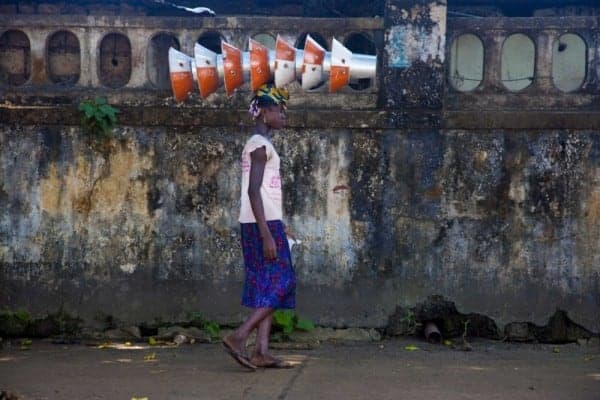 Street scene in Conakry, the capital of Guinea. JOE PENNEY