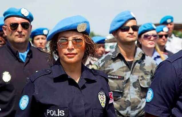 A female police officer for UN peacekeeping. LOGAN ABASSI