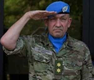 Maj. Gen. Michael Lollesgaard of Denmark, the new force commander in Mali.