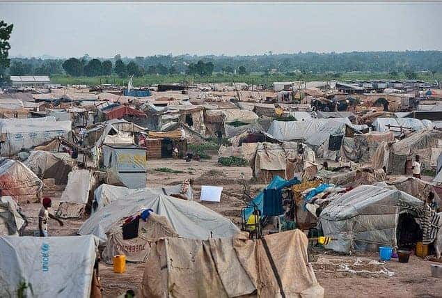 The M'Poko camp, in Bangui, for internally displaced people in the Central African Republic, photographed in 2014 and where the sex abuse by international peacekeepers apparently occurred. CATIANNE TIJERINA/UN PHOTO