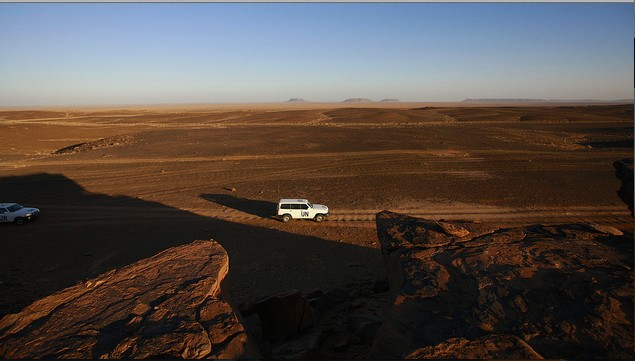 A UN patrol in Western Sahara, where the UN has a peacekeeping mission. MARTINE PERRET/UN PHOTO