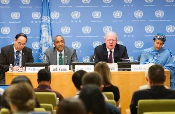 UN press briefing on sustainable development goals agreement