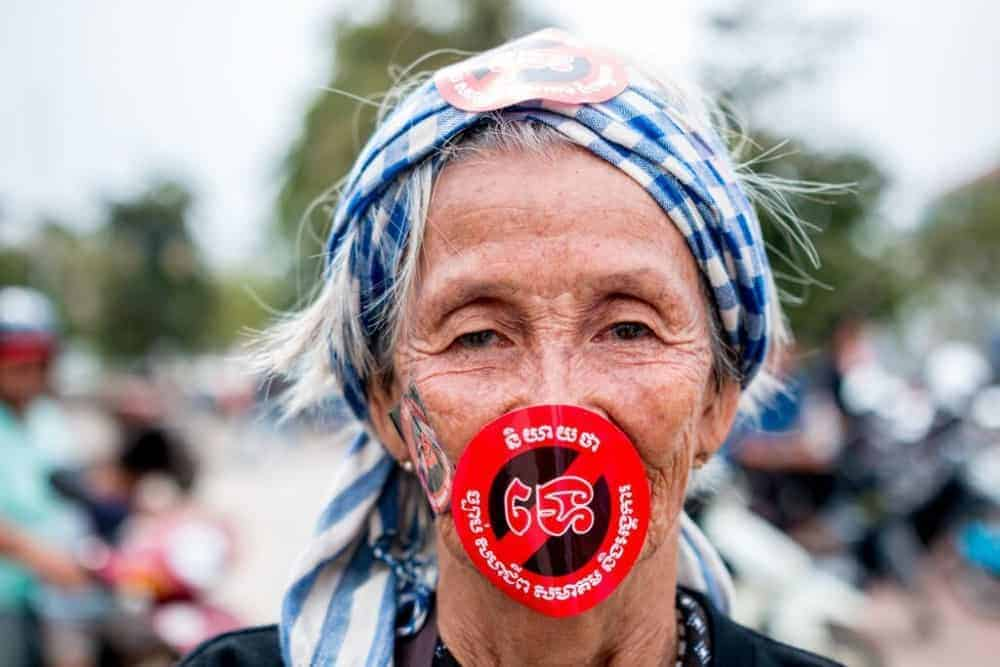 Protesters rallied in Phnom Penh this summer to vent frustration over a new law restricting civil society. ©LICADHO
