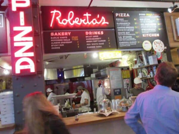 Roberta's, the wood-fired pizza that wowed Brooklyn, has popped up in Manhattan at UrbanSpace Vanderbilt. IRWIN ARIEFF
