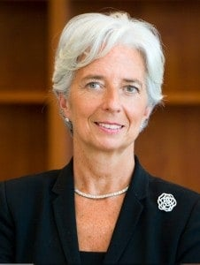 Christine Lagarde, the first female director of the International Monetary Fund.