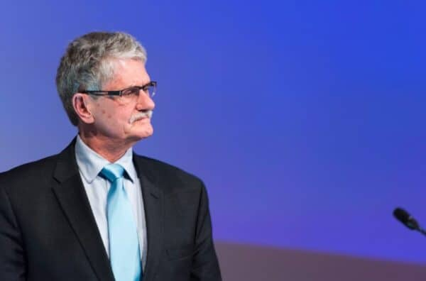 Mogens Lykketoft, a Dane and the president of the UN General Assembly, attending a humanitarian conference in Dubai, January 2016. MARK GARTEN